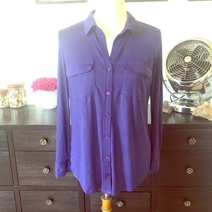 Bright royal blue blouse